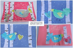 Winter Bird Heart Cards from the Educators' Spin On It