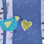Valentine's Card for Kids: Winter Birds