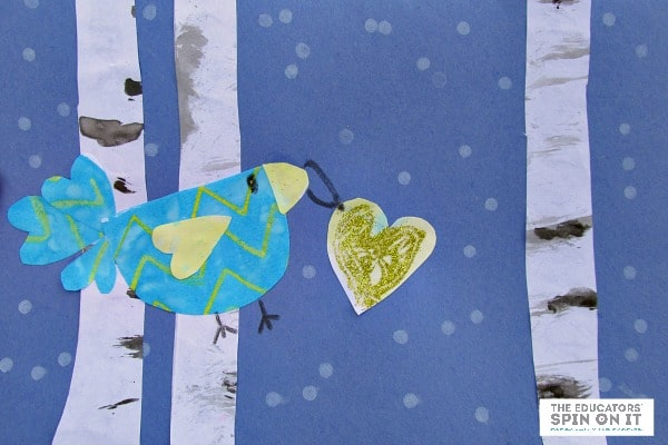 Winter Birds Card from The Educators' Spin On It