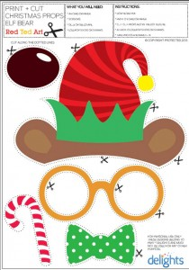 graphic relating to Christmas Photo Booth Props Printable named Xmas Picture Props Printables (Absolutely free!) - Crimson Ted Artwork