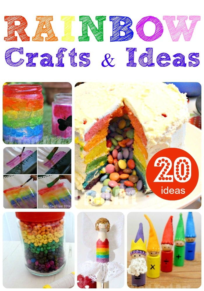 25+ Rainbow Crafts to delight - these are some of the best and easiest rainbow crafts out there. LOVE them all.