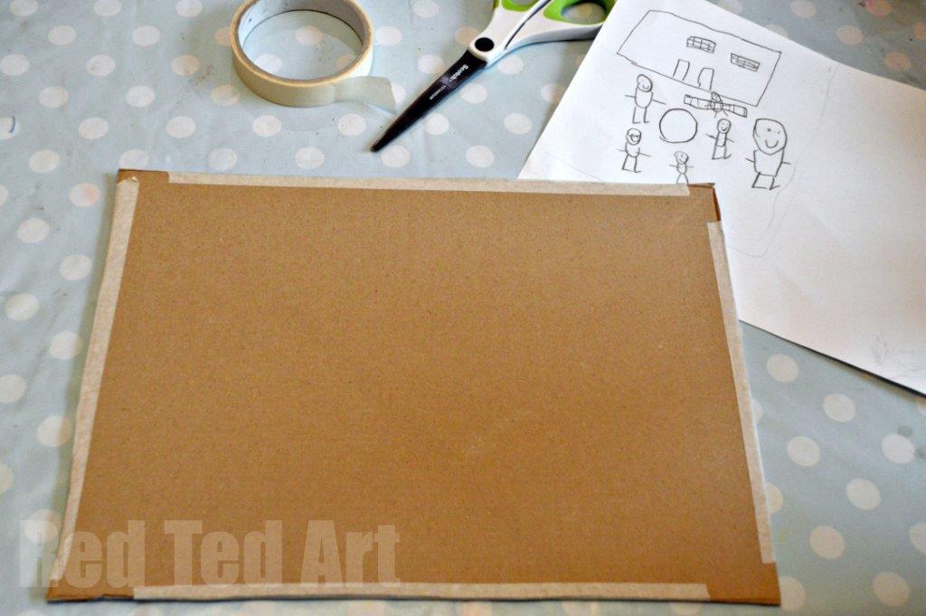 Cardboard Box Craft Ideas - Canvas for Art