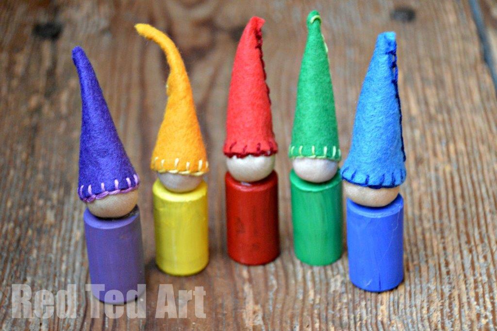Cork Crafts - Rainbow Pixies
