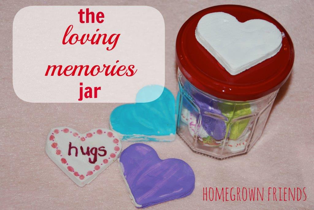 DIY White Clay - loving memories jar