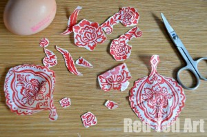 Decoupage Easter Egg Decoration