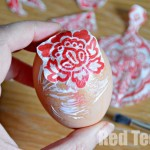 Egg Decorating Ideas - Napkin Decoupage