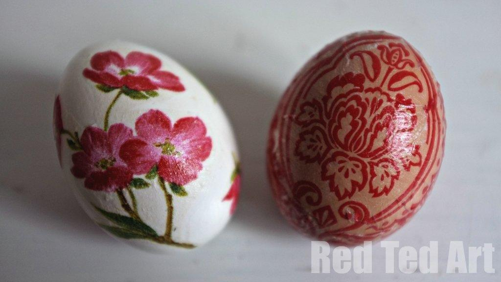 Egg Decorating Ideas - decoupage