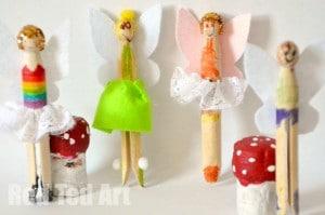Fairy Peg Dolls by Pip Squeak