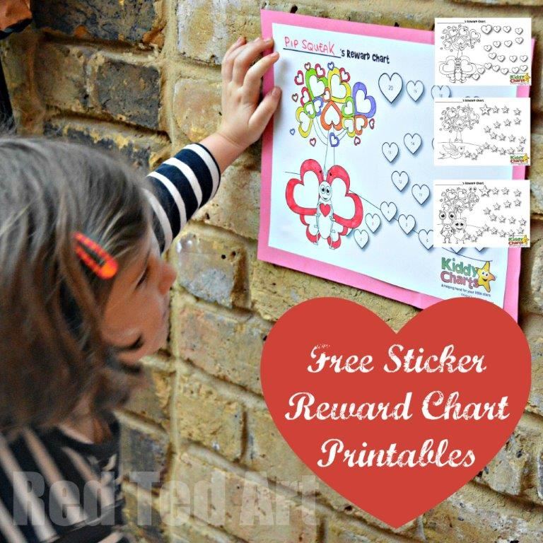 Free Sticker Reward Chart Printables – 3 to designs to choose from
