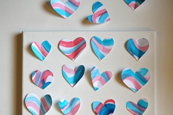 Heart Art Arranging Hearts