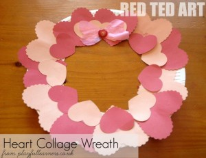 Heart collage wreath