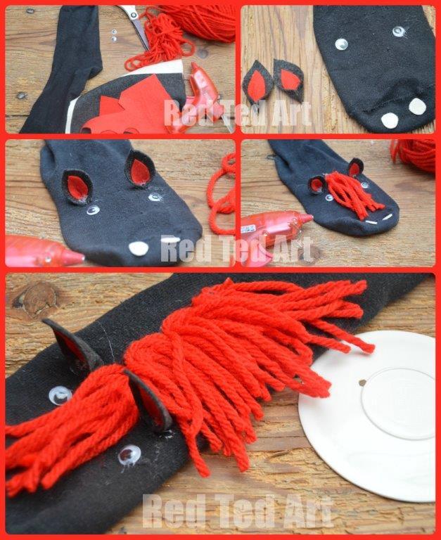 Horse Puppet – No Sew Sock Puppet