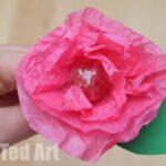 Tissue Paper Flower Lollipops