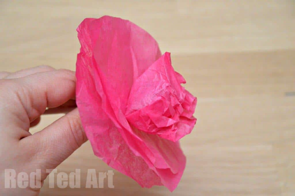 Tissue paper flower lollipops red ted arts blog lollipop flower easy how to mightylinksfo