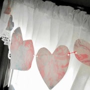 Marble Hearts Valentines Craft from B-Inspired Mama