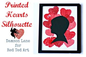 Printed Hearts Silhouette