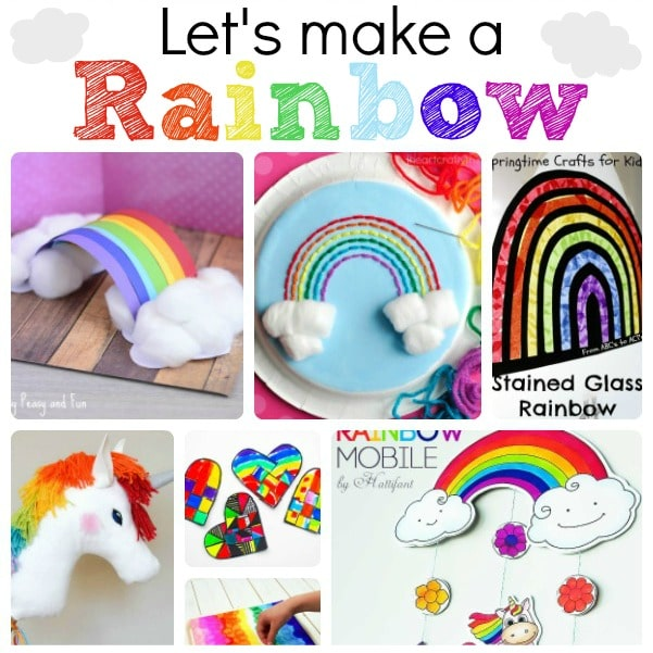 Rainbow Crafts & Activities - super lovely rainbow crafts for kids. why not make a rainbow this Spring? Perfect St Patrick's Day DIYs too!