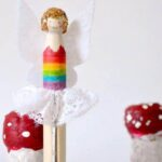 Rainbow Fairy Dolly Pegs
