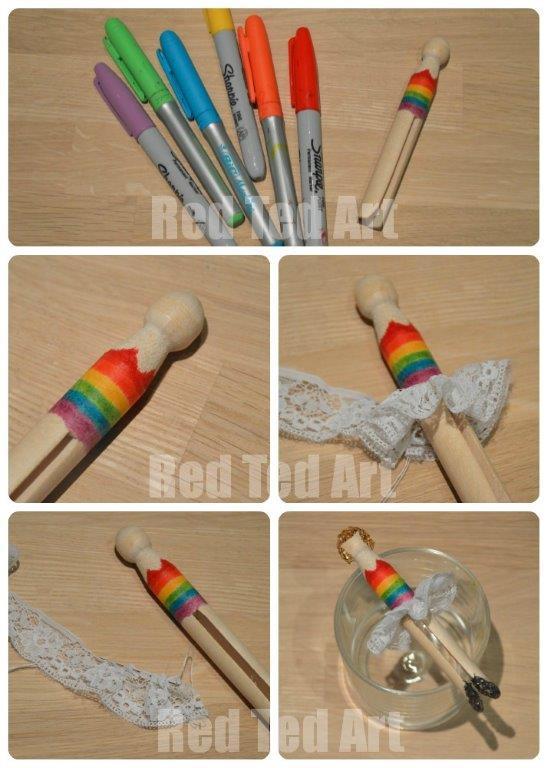 Rainbow Fairy Dolly Peg - Step by Step