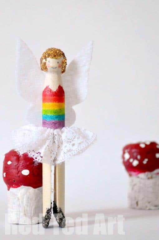 Rainbow Fairy Dolly Peg