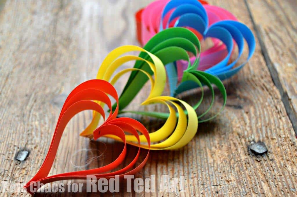 Rainbow heart garland red ted art 39 s blog for Heart decoration ideas