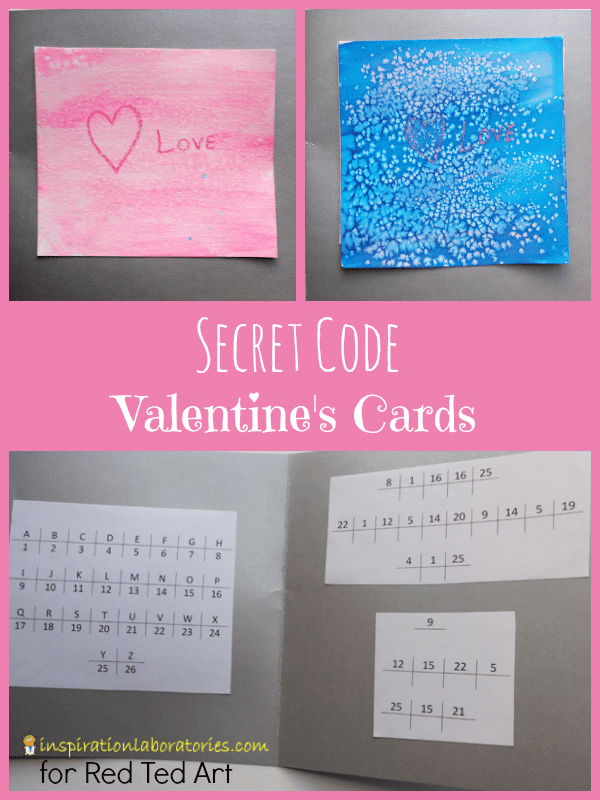 hidden message valentines day card s cards coded message ted s 6707