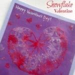 Snowflake Valentine Craft from B-Inspired Mama