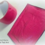 Taping up the Squishy Kids Valentine Card  - B-Inspired Mama at Red Ted Art