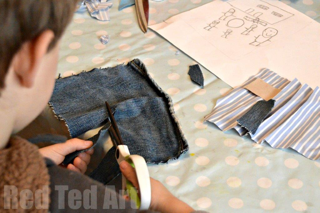 Textile Art Project for Kids - exploring Janet Bolton