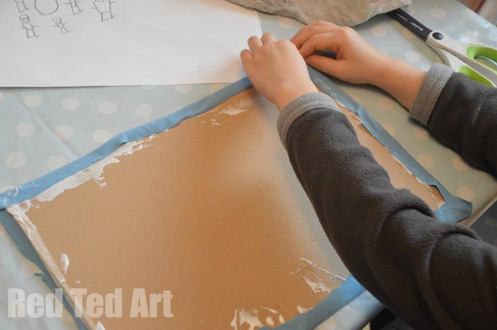Textile Art for Kids - Janet Bolton - Applying the background