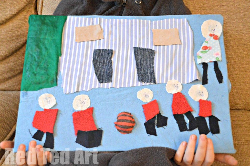 Textile Art for Kids - MY SCHOOL - exploring Janet Bolton