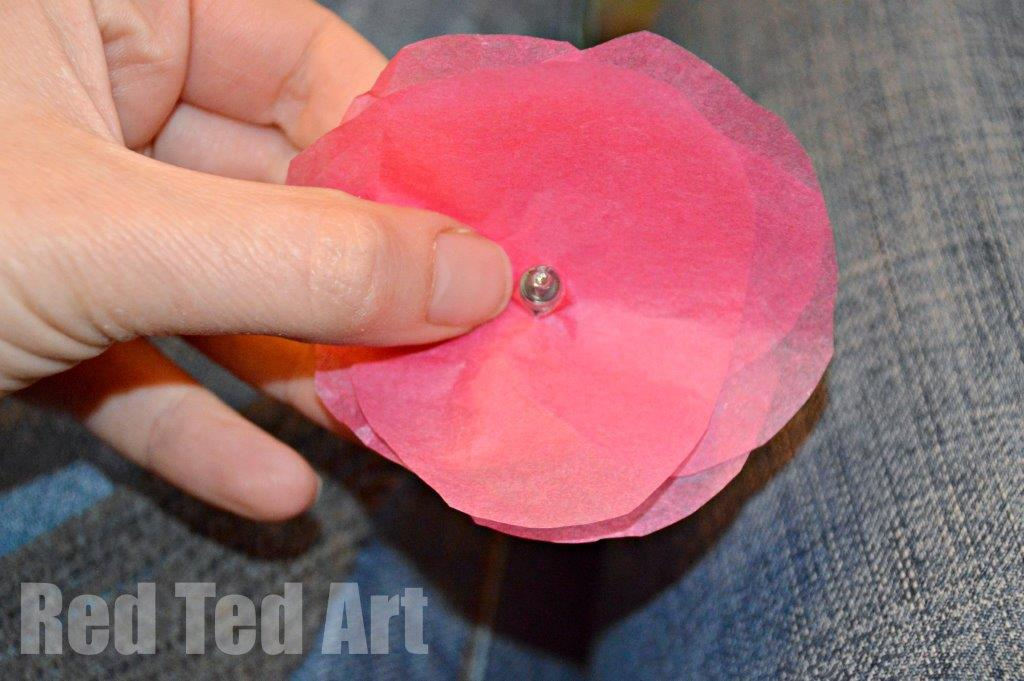 Tissue paper flower fairy lights red ted arts blog tissue paper flower fairy lights mightylinksfo Choice Image