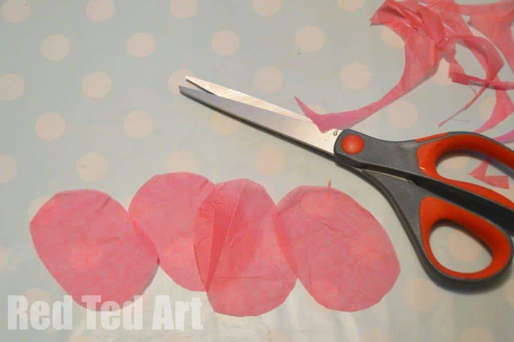 Tissue paper flower fairy lights red ted arts blog tissue paper flowers fairy lights mightylinksfo