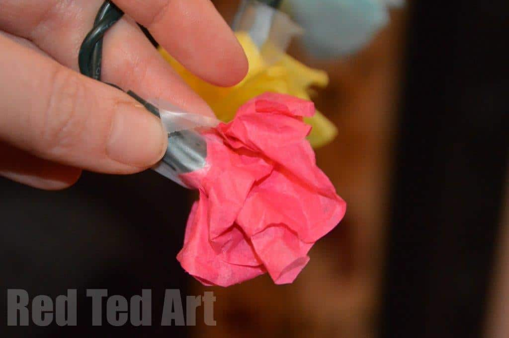 Tissue Paper Flowers - Fairy Lights
