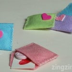 Valentine Felt Envelopes
