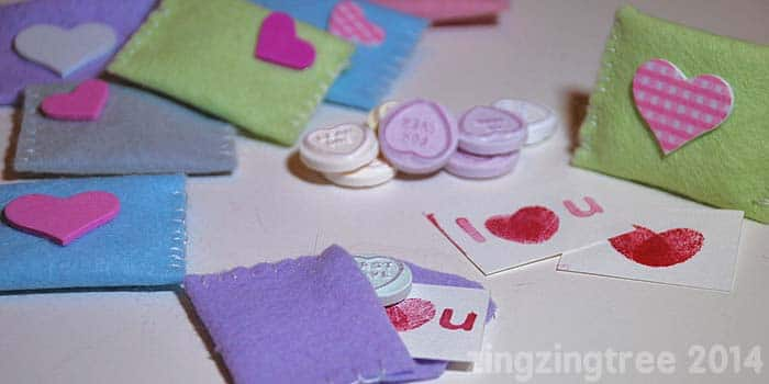 Valentine's Felt Envelopes: Sweetie Gifts