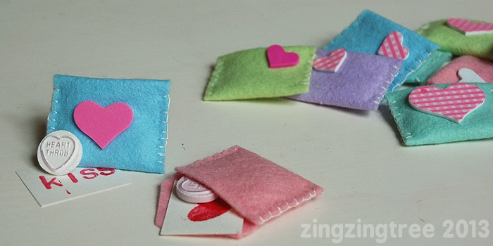 Valentine S Felt Envelopes Sweetie Gifts Red Ted Art S Blog