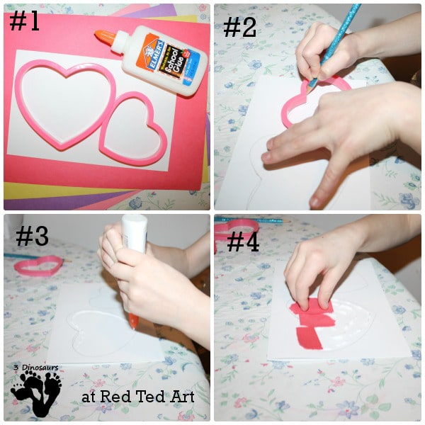 Valentines Cards For Tots Paper Hearts Red Ted Arts Blog – How to Make Valentines Cards