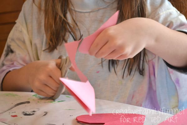 Valentine's Day Decorating Ideas - heart bunting cutting