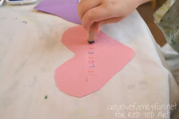 Valentine's Day Decorating Ideas – heart bunting stamping