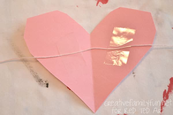 Valentine's Day Decorating Ideas – heart bunting tape