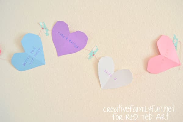 Valentine's Decorations: Candy Heart Bunting