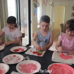 Valentine's Day cards - resisit painting