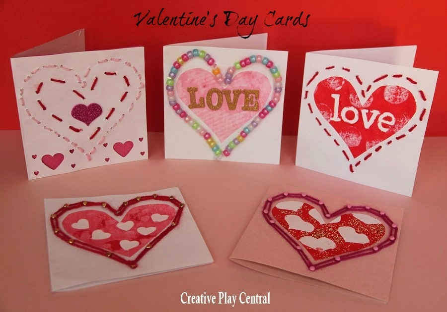 Valentines Sewing Threading Red Ted Arts Blog – Creative Valentine Day Cards