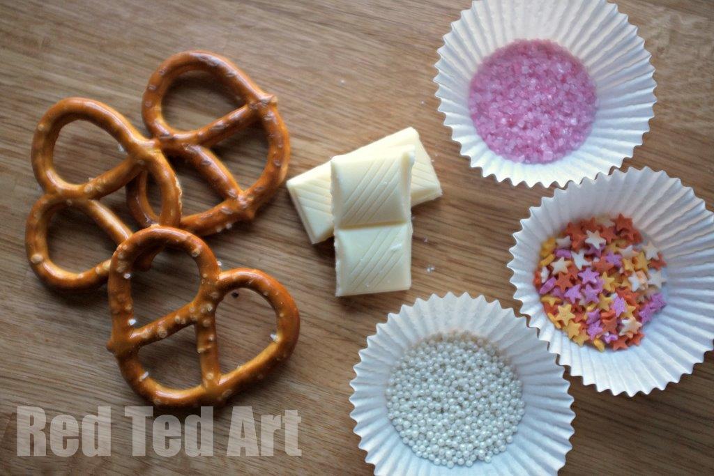 Valentine's Treats - Chocolate Pretzels - Ingredients