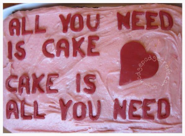 Valentines Treats - Love Cake Recipe