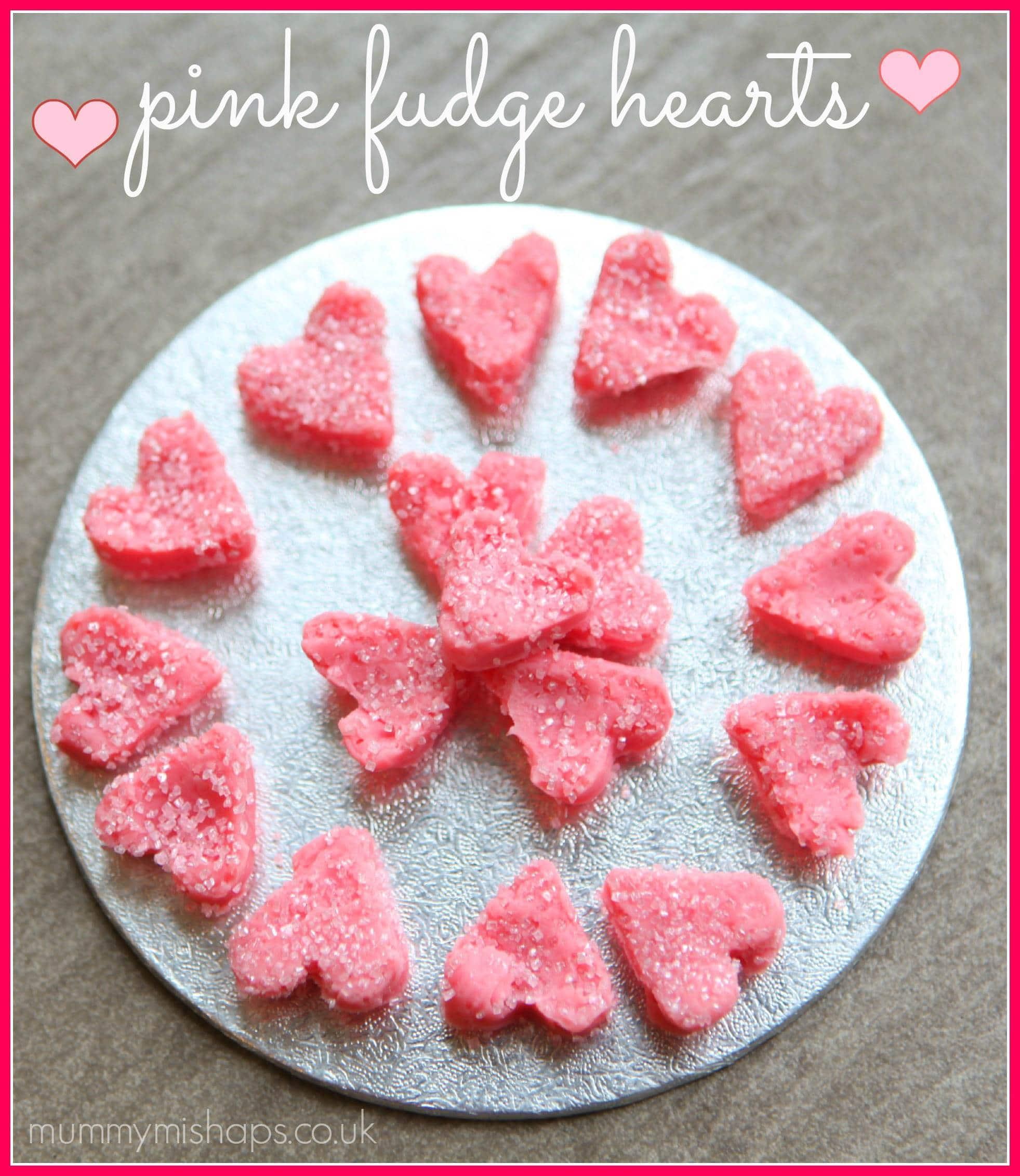 Valentines Treats - Pink Fudge Hearts