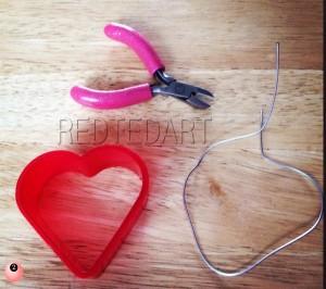 Wire Heart Craft valentines day