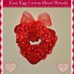 Valentine's Decorations for Preschoolers: Egg Carton Heart Wreath