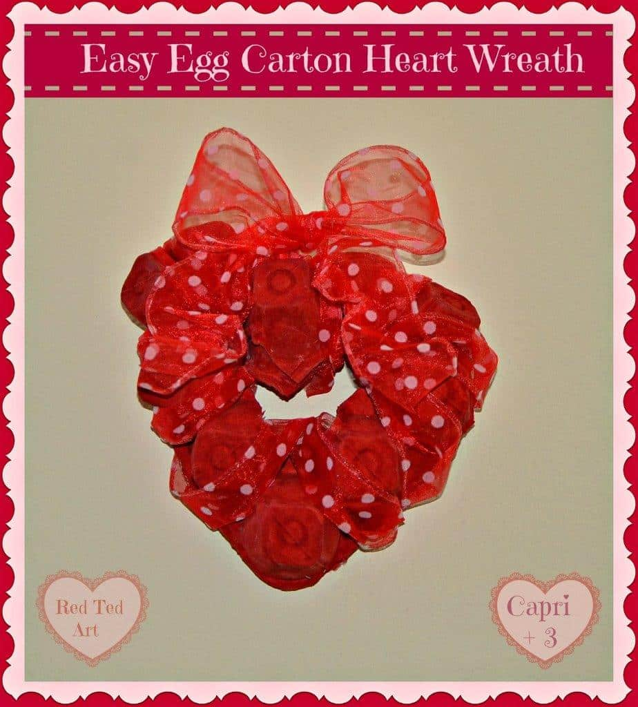 Valentine's Decorations for Preschoolers: Egg Carton Heart Wreath